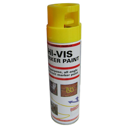 Surveying Equipment Yellow Fluorescent Hi Vis Spray Paint 500ml